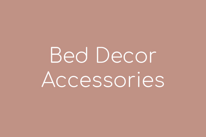 Bed Decor Accessories