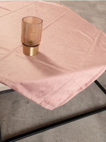 Square Tablecloth New Velvet Pink